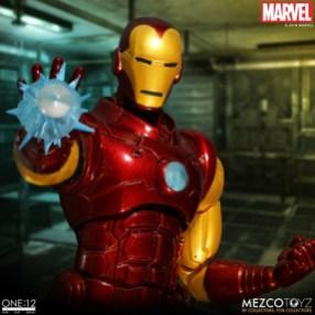 mezco toyz iron man one 12 figure -close up