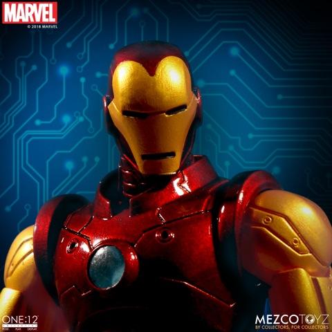 mezco toyz iron man one:12 figure -detail