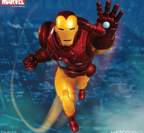 mezco toyz iron man one: 12 figure -flying ahead