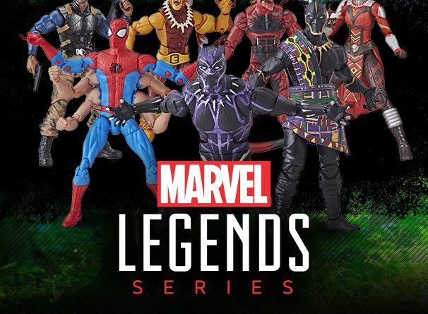 new marvel legends black panther and spider-man waves