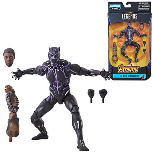 new marvel legends black panther figures - black panther with vibranium effect