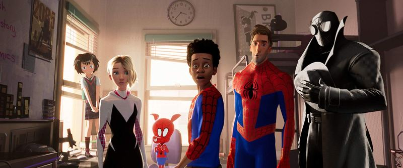 spider-man into the spider-verse review - miles morales and the other spider-men and women