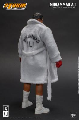 storm collectibles muhammad ali figure -rear with robe on