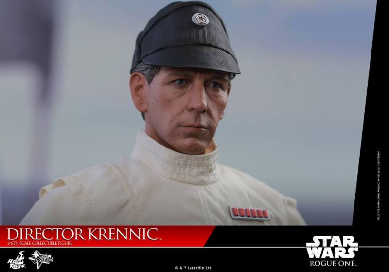 hot toys director krennic figure - head with hat close up