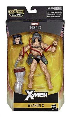 marvel legends x-men build-a-caliban packaging weapon x