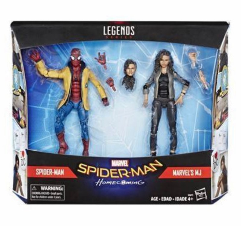 Marvel legends spider-man: homecoming figures spider-man and mj package