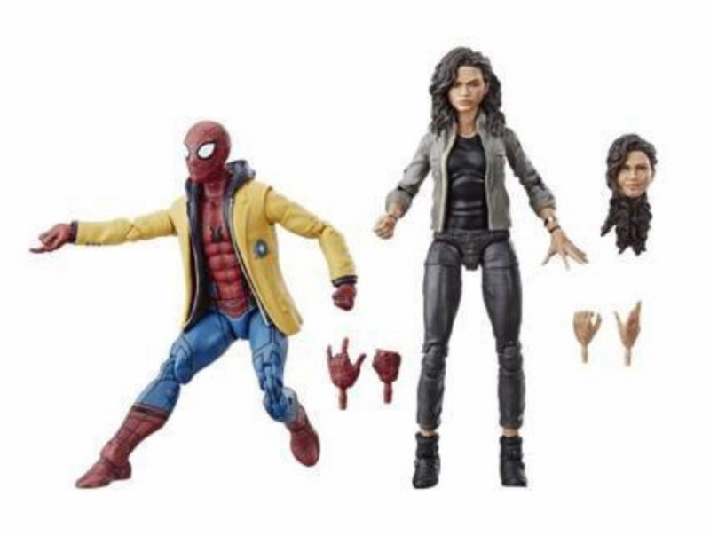 Marvel legends spider-man: homecoming figures spider-man and mj loose