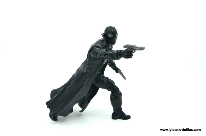 Marvel Legends Spider-Man Noir figure review - aiming right