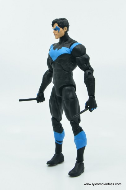dc essentials nightwing figure review - left side