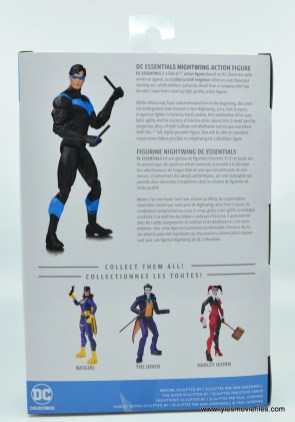 dc essentials nightwing figure review - package rear