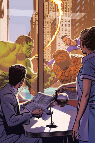 marvels 25th anniversary covers -hulk vs fantastic four
