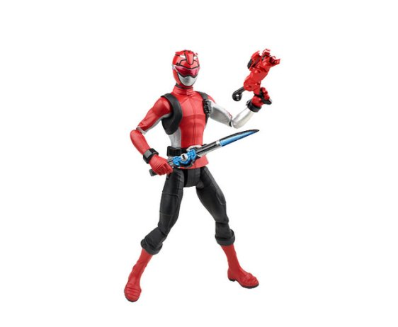 power rangers beast morphers red ranger with weapons