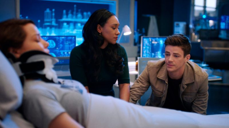 the flash seeing red - nora, iris and barry