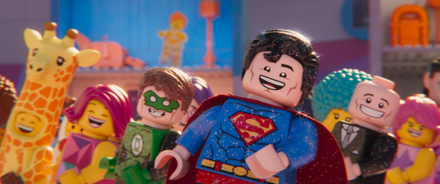 the lego movie 2 the second part movie review - green lantern, superman and lex luthor