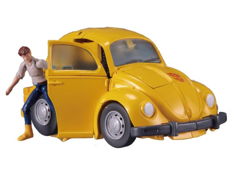 transformers masterpiece bumblebee 2.0 figure - spike getting out