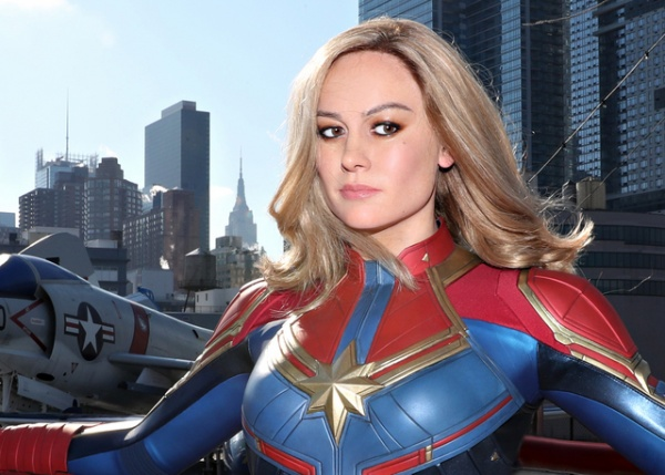 Brie Larson As Captain Marvel Figure Launches At Madame Tussauds New York