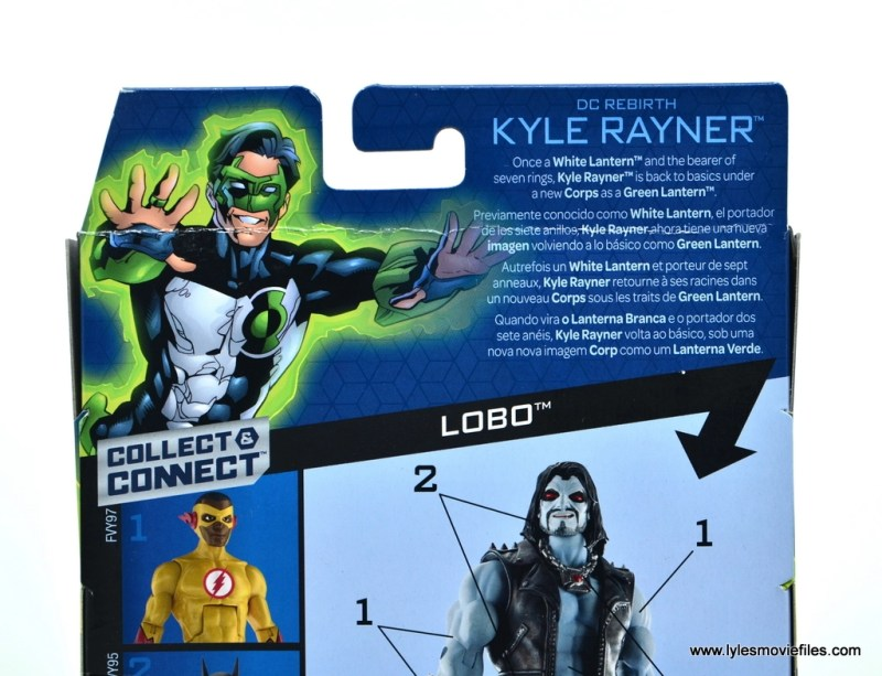 DC Multiverse Kyle Rayner figure review - package bio