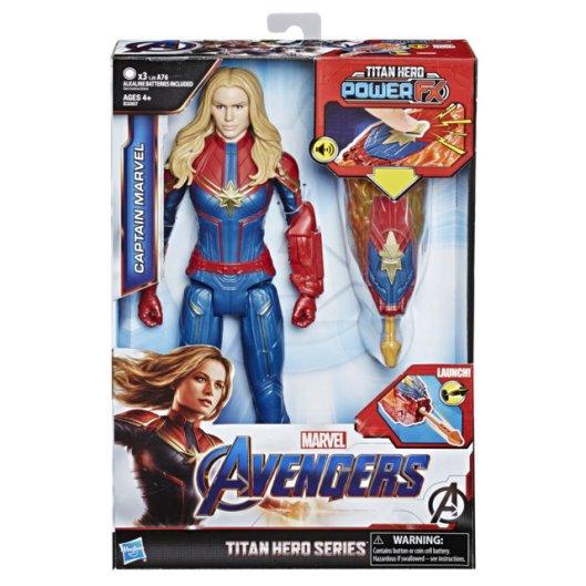 MARVEL AVENGERS ENDGAME TITAN HERO POWER FX CAPTAIN MARVEL in pck