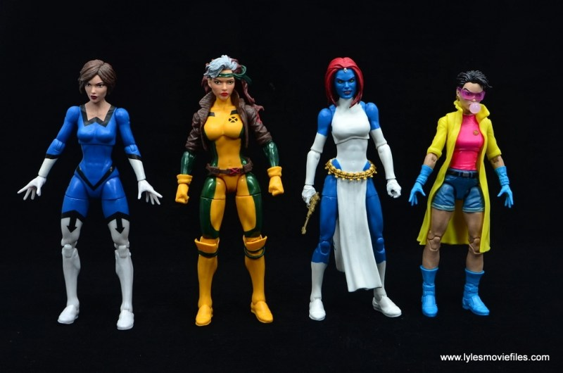 Marvel Legends Mystique figure review -scale with wasp, rogue and jubilee