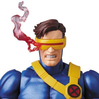 Marvel MAFEX Cyclops figure - smoking visor attachment