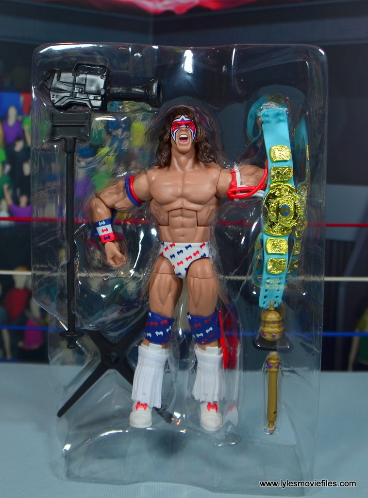 WWE Flashback Ultimate Warrior figure review - accessories