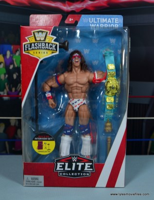 WWE Flashback Ultimate Warrior figure review -package front