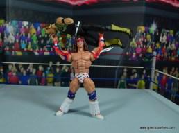 WWE Flashback Ultimate Warrior figure review -press slam sgt slaughter