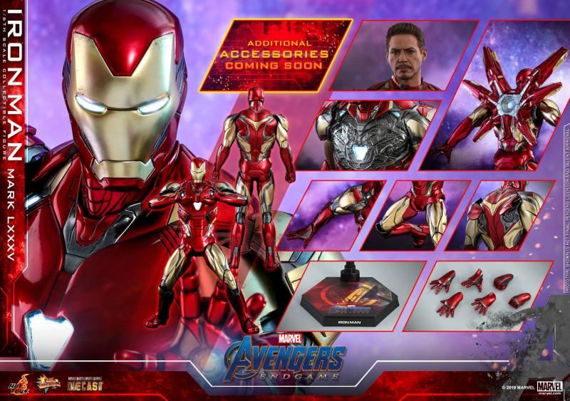 hot toys avengers endgame iron man mark LXXXV figure - accessories