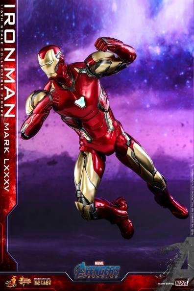 hot toys avengers endgame iron man mark LXXXV figure -flying