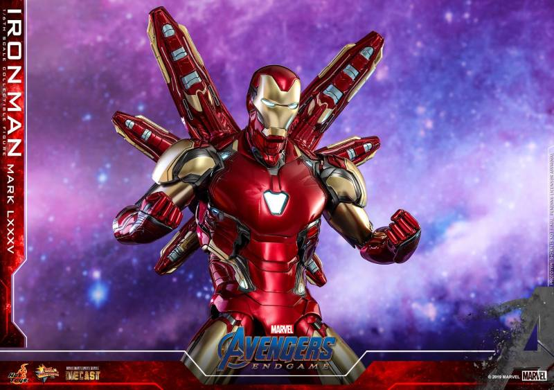 hot toys avengers endgame iron man mark LXXXV figure - wings out