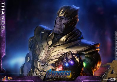 hot toys avengers engame thanos figure -lit up infinity gauntlet