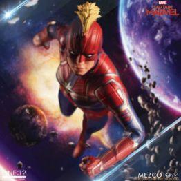 mezco one 12 captain marvel figure -flying ahead