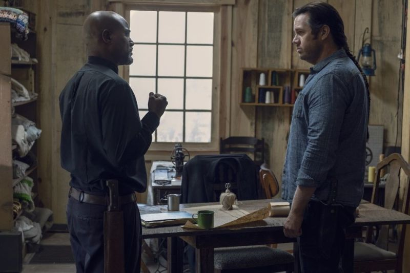 the walking dead guardians review - gabriel and eugene