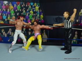 wwe elite flashback ricky steamboat figure review - macho man tied in the ropes