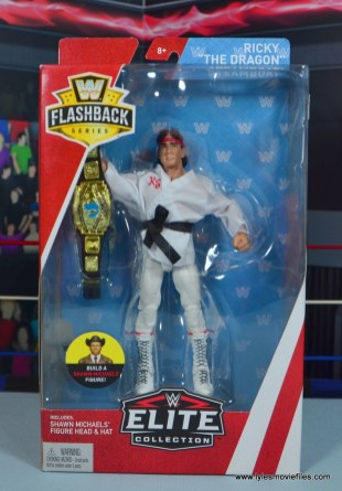 wwe elite flashback ricky steamboat figure review - package front