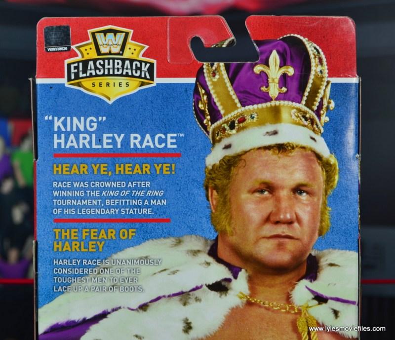 wwe elite king harley race figure review - package bio