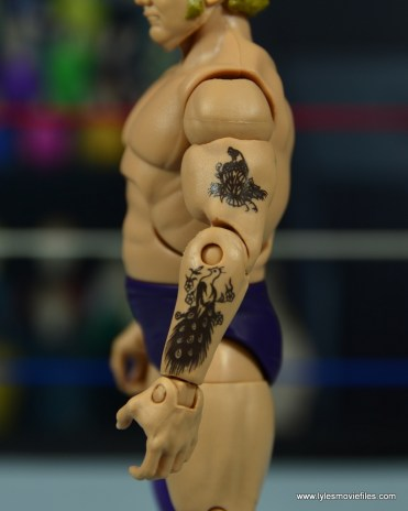 wwe elite king harley race figure review - tattoo detail