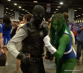 Awesome Con 2019 - spider-man noir and she-hulk