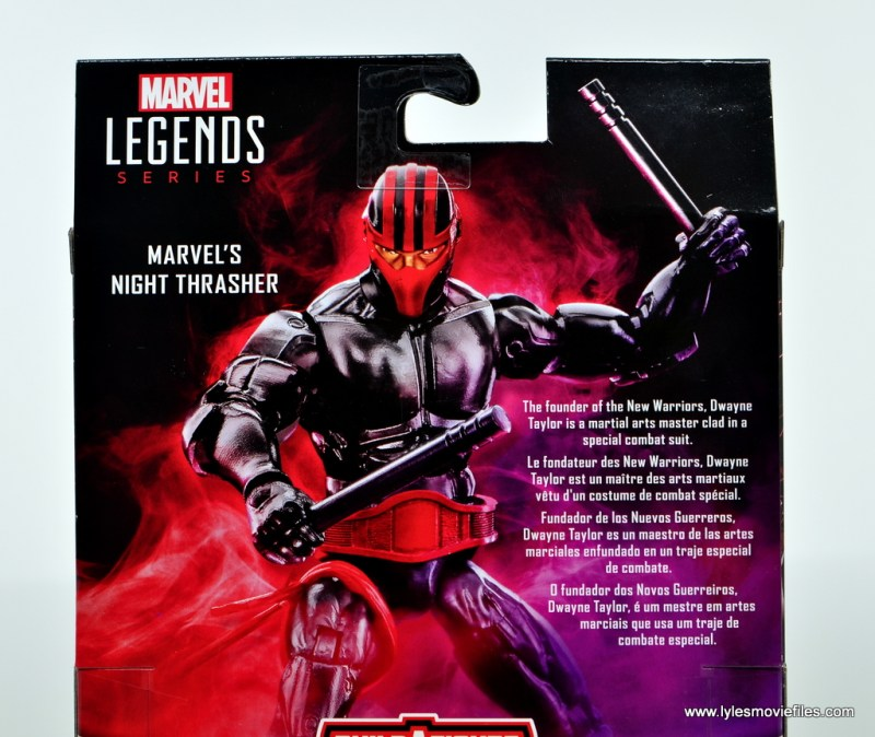 Marvel Legends Night Thrasher figure review - package bio