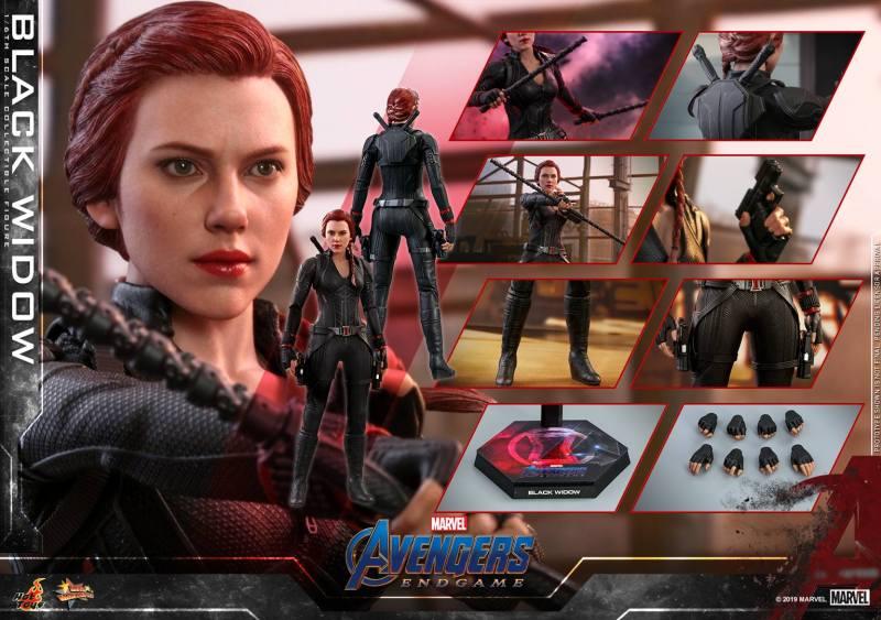 hot toys avengers endgame black widow figure - accessories