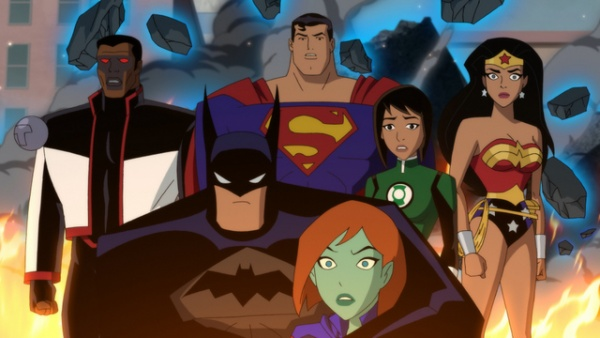 justice league vs the fatal five review - mr. terrific, batman, superman, miss martian, jessica cruz and wonder woman