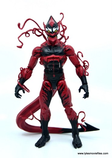 marvel legends red goblin figure review - front