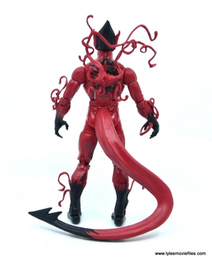 marvel legends red goblin figure review - rear