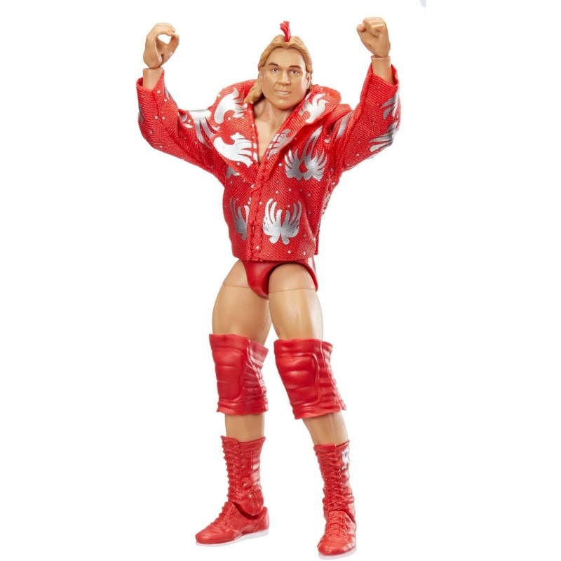 wwe elite red rooster figure front with jacket on