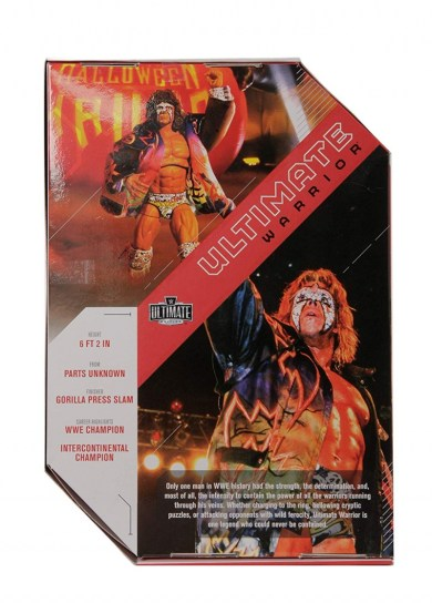 wwe ultimate edition figure - ultimate warrior rear package