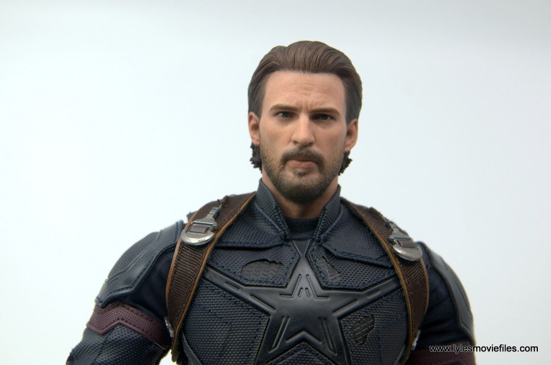 Hot Toys Avengers Infinity War Captain America figure review - wide head shot