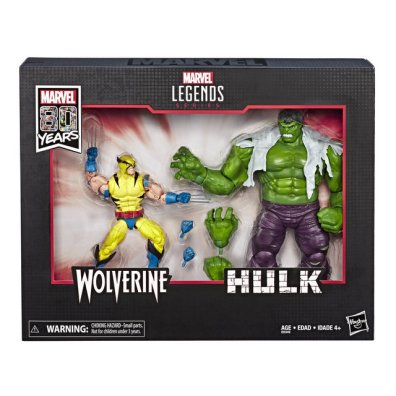 MARVEL LEGENDS SERIES 80TH ANNIVERSARY Figure - Hulk & Wolverine 2-Pack (in pck)