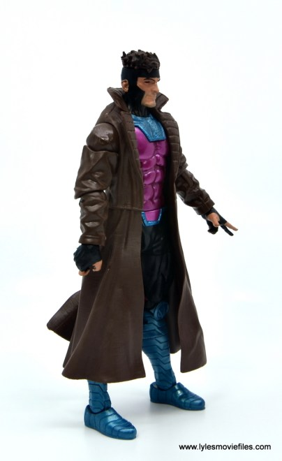 Marvel Legends Gambit figure review -right side