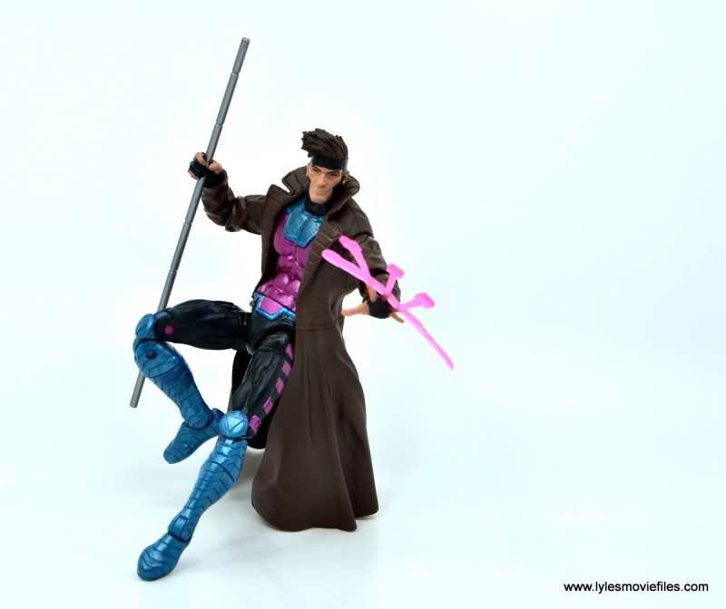 Marvel Legends Gambit figure review - throwing cards