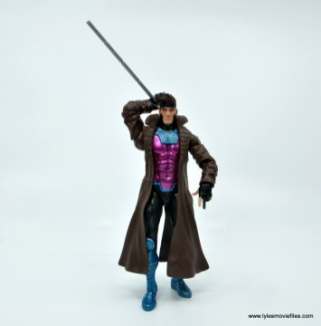 Marvel Legends Gambit figure review - walking with staff
